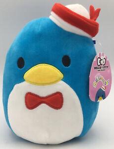 "Squishmallow 7"" Hello Kitty Tuxedo Sam Blue Plush Sanrio Penguin Tuxedosam"