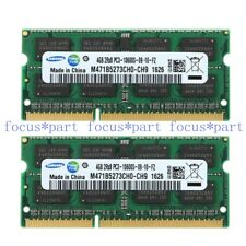 Samsung 8GB 2X 4GB PC3-10600 DDR3 1333MHz 204pin mac Sodimm Laptop Memory Ram