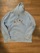 Nike Vintage Mens Hoodie Light Blue Size XL