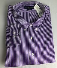 Polo Ralph Lauren Dress Shirt Mens 20 38 39 Classic Fit Purple White Blue Pony