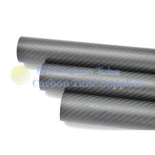 Roll OD 30mm x ID 28mm x 1000mm Length Mate Surface 3K Carbon Fiber Tube 30*28