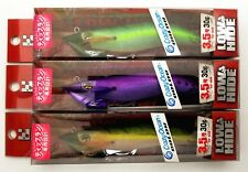 3x Gee Crack Egi Squid Jigs #3.5 - Ultra Deep Japanese Cloth Tip-Run Squid Lures