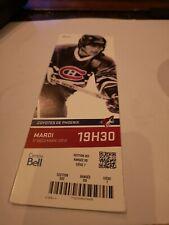 Montreal Canadiens 2013 Season  Unused Ticket Stub Mats Naslund