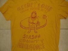 Grumpy Louie Couch Potato Style Season County Indulgence Yellow T Shirt M