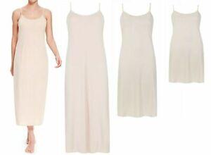 Ladies Full white slip underskirt nightie Ex.M & S fit 8 to 22 14 to 32 length