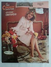 70's Sears Clingalon Control Top Pantyhose Sandstone Sz Tall New Old Stock Vtg
