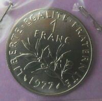 1 franc Semeuse 1977 : FDC : pièce de monnaie française N14