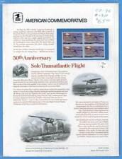 USPS COMMEMORATIVE PANEL #76 LINDBERGH FLIGHT #1710