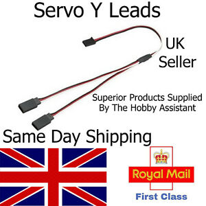 Servo Y Lead Extension Male Female Connector Wire Cable Futaba JR Splitter RC UK