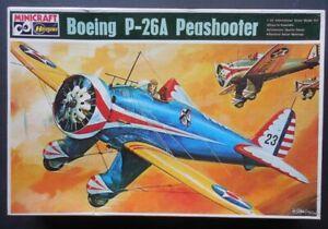 Boeing P-26 Peashooter 1/32 Hasegawa Minicraft Model Kit JS-092
