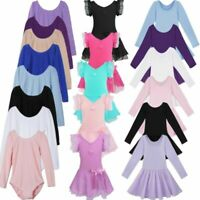 US Toddler Girls Gymnastics Leotards Dress Ballet Dance Tutu Dancewear Costume