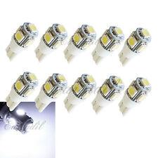 T10 10x Super White LED 5 SMD Wedge Xenon Bulb #St4 168 192 Front Parking Light