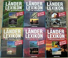 Länder Lexikon mit aktuellem Atlas, Band 1-6, Praesent Verlag, TOP ZUSTAND