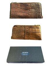 Exclusive ALEXANDER McQUEEN TRAVEL WALLET Samsonite BLACK LABEL Leather Brown