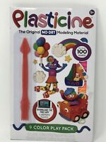 Plasticine - The Original NO DRY Modeling Material - 9 Color Play Pack