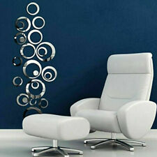 3D Circle Mirror Wall Sticker Removable Decal Acrylic Art Mural Home Decor