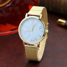 Popular Women Classic Analog Stainless Steel Band Casual Quartz Wrist Watch Rose Gold