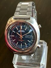 Vintage 1971 SEIKO SPORTS 5 SPEED TIMER 7017-8000 Chronograph w/ Perfect FlyBack