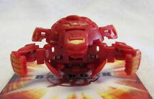 New BAKUGAN Pyrus Red QUAKIX GOREM 850G Super Assault + 2 cards LOOSE