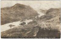 1915 Panama Canal Gaillard Cut Landslide Dredging Real Photo Postcard