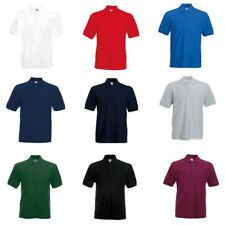Fruit of the Loom Men's Heavy Poly/Cotton Piqué Short Sleeves Polo Shirt Sports