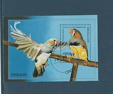 Guinée république  bloc   faune oiseaux   1996  num : 114   oblitéré