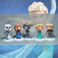 5pcs Lot Disney Frozen Anna Elsa Olaf Kristoff Sven Figure Figurine No Box