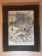 Original Water Color Painting Signed Garrett. Framed Matted And Signed