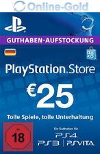 PSN Network Card 25 Euro PS3 PS4 PS Vita PlayStation Gift Prepaid Code 25€ - DE