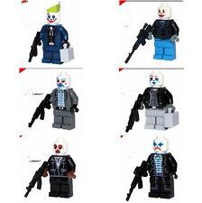6pcs New Custom Joker Bank Robbers Minifigures from Batman Mini figure