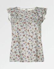 Fat Face-Mujer-Mila se arrastra Floral Print Top-Marfil-Talla 6-Bnwt