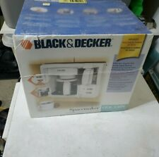 NEW Vintage BLACK & DECKER SPACEMAKER COFFEE MAKER w GLASS CARAFE MODEL ODC 150