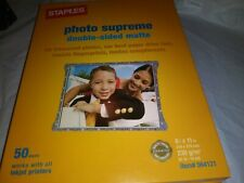 """2newStaples Photo Supreme Paper 8 1/2"""" x 11"""" Double Sided Matte Printer 50 Pack"""