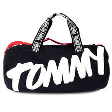 New TOMMY HILFIGER Large Canvas Duffle Duffel Bag Gym Weekender Carry-On