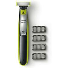 Philips One Blade Hybrid Wet & Dry Shaver, Rechargeable Li-Ion, 4 Combs - Black