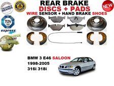 für BMW 3 E46 Limousine Bremsscheiben SET HINTEN+BELÄGE SET +Sensor+