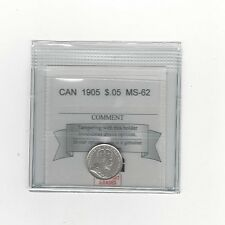 **1905**,Coin Mart Graded Canadian,  5 Cent, **MS-62**