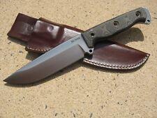 Busse Combat HOG Badger Knife Custom Molded Leather Sheath BROWN