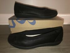NEW Clarks Cloudsteppers Ayla Low Black Slip on Shoes Loafers Size 7.5 8 9.5 M