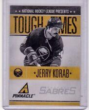 JERRY 'KING KONG' KORAB 13/14 Pinnacle Tough TImes Insert Hockey Card #JK Sabres