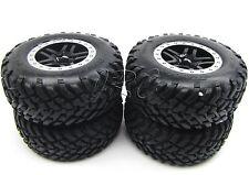 Nitro Slash TIRES, Black wheels & Silver beadlock ( 4 frt/rear) Traxxas 44056-3
