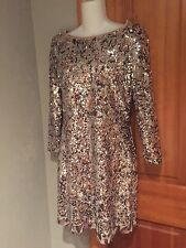 ELIE TAHARI AMELIE LEOPARD DAZZLING GOLD SEQUIN DRESS SZ 4