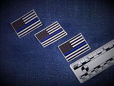 3 Thin Blue Line Subdued U.S.Flag Sticker Minis FREE Bonus Decal & SHIPS FREE!