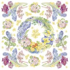 Serviette en papier de riz DFT169 Couronne de Fleurs Rice Paper Napkin Flowers