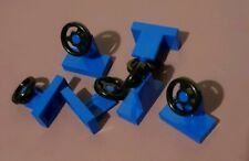 6 x GENUINE LEGO steering wheel blue * part 4226995  *