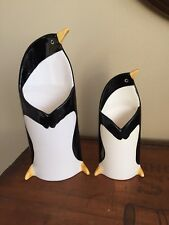 Set- 2 Vintage Fitz and Floyd Penguin Vases, Pockets, Decorative Art Figurines