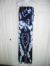 NWT $189 Young, Fabulous and Broke Navy Blue Sydney Maxi Tie Dye Dress, Medium