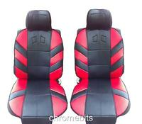 FRONT RED CUSHION PADDED SEAT COVERS FOR OPEL VAUXHALL CORSA C D MERIVA ASTRA