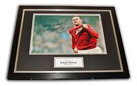 Wayne Rooney GENUINE HAND SIGNED & FRAMED Photo Display Manchester United + COA