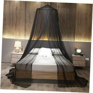 Elegant Round Mosquito Net Canopy Bed Curtains Fit Twin,Full,Queen,King Black